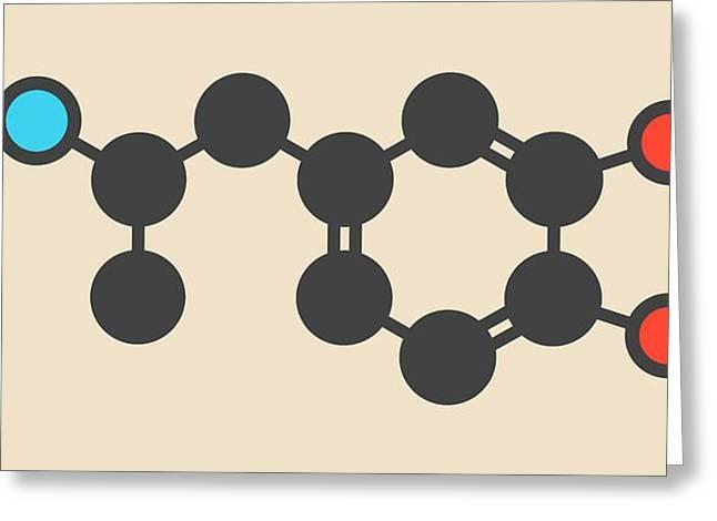 Mdma Ecstasy Party Drug Molecule Greeting Card by Molekuul