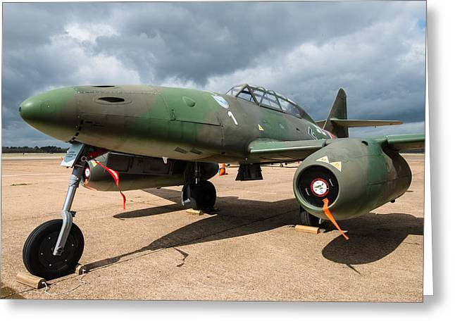 Me-262 Business End Greeting Card by Alan Roberts