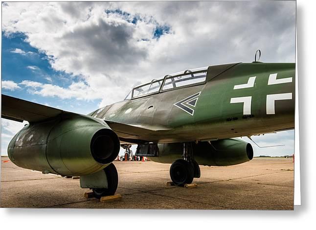 Me-262 Markings Greeting Card by Alan Roberts