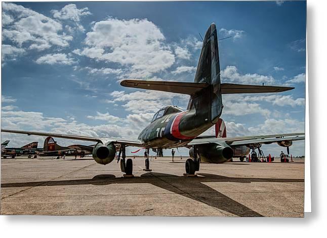 Me-262 Tail Greeting Card by Alan Roberts