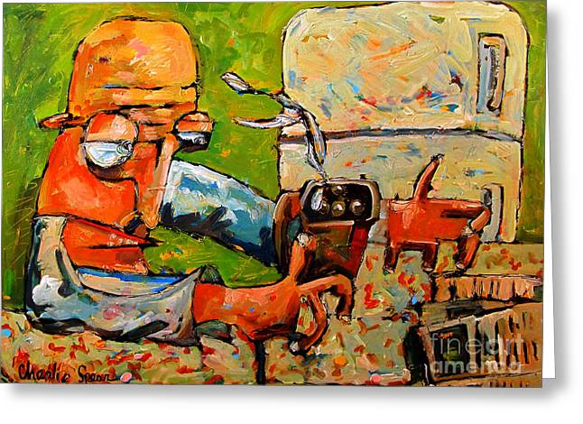 Coffee Drinking Greeting Cards - Me and My Jo No.4 series from That Coffee Thing Greeting Card by Charlie Spear