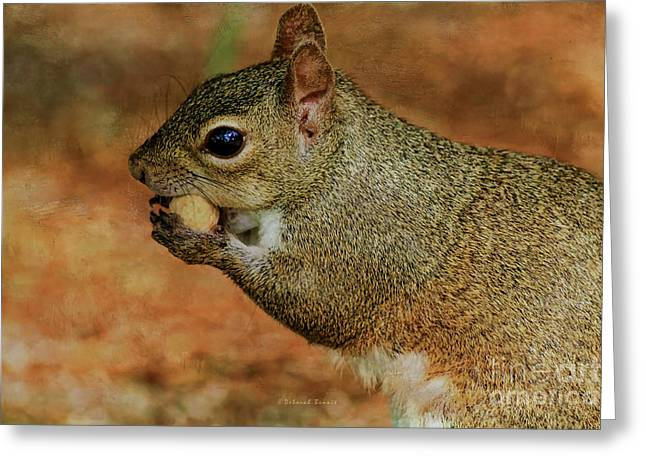 Me And My Peanut Greeting Card by Deborah Benoit