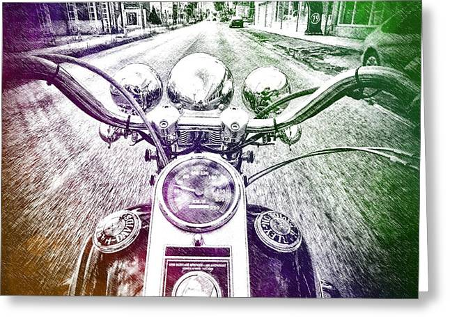 In My Life Greeting Cards - Me and My Ride Greeting Card by Karyn Robinson