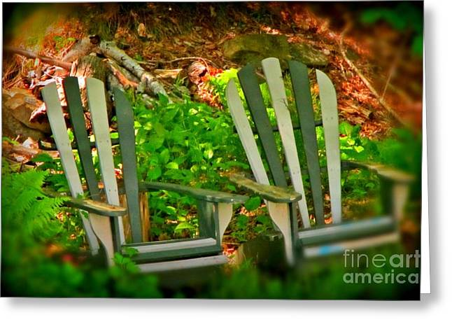 Lawn Chair Greeting Cards - Me and You Honey Just Me and You Greeting Card by John Malone