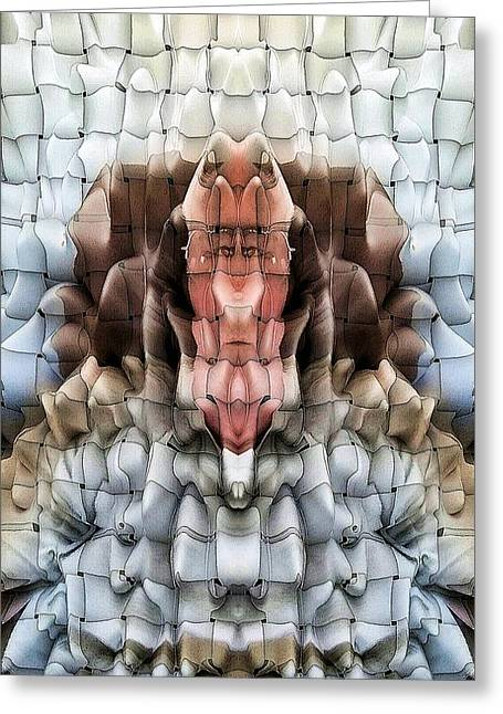Distortion Greeting Cards - Me Mirrored Greeting Card by Ron Bissett