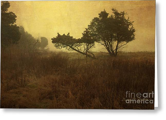 Warm Tones Digital Art Greeting Cards - Meadow and Trees Greeting Card by David Gordon