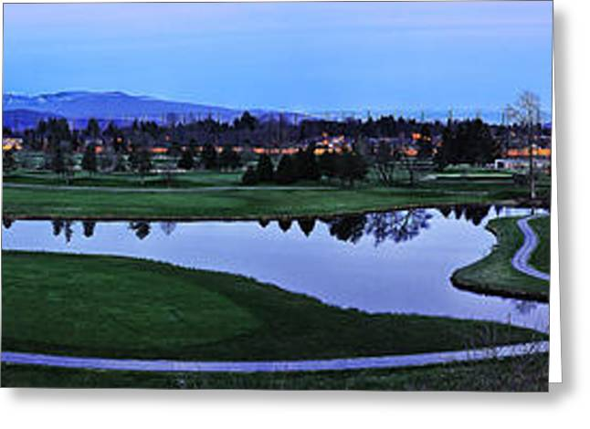 Wesley Allen Shaw Photography Greeting Cards - Meadow Gardens Golf Club Greeting Card by Wesley Allen Shaw