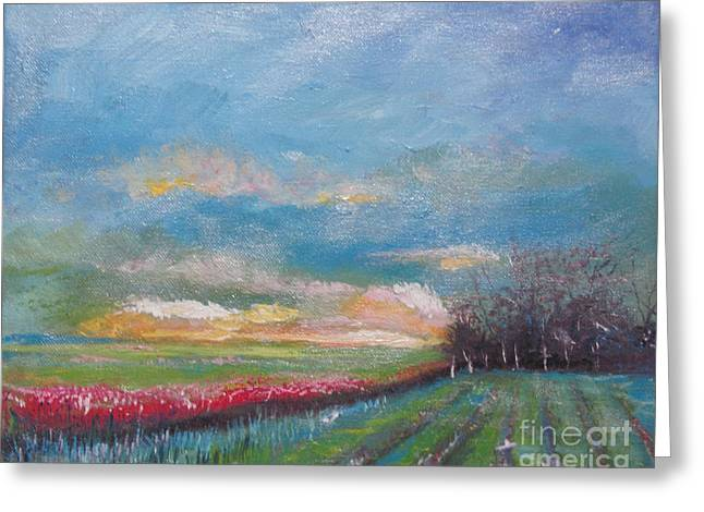 Franklin Farm Paintings Greeting Cards - Meadow Greeting Card by Rebecca Myers
