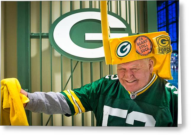Lambeau Field Greeting Cards - Mean Gene Greeting Card by Bill Pevlor