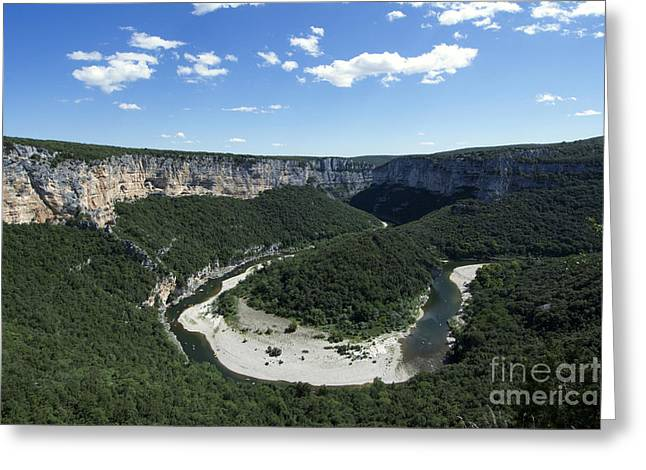 Canoeing Photographs Greeting Cards - Meander. Gorges de lArdeche. France Greeting Card by Bernard Jaubert
