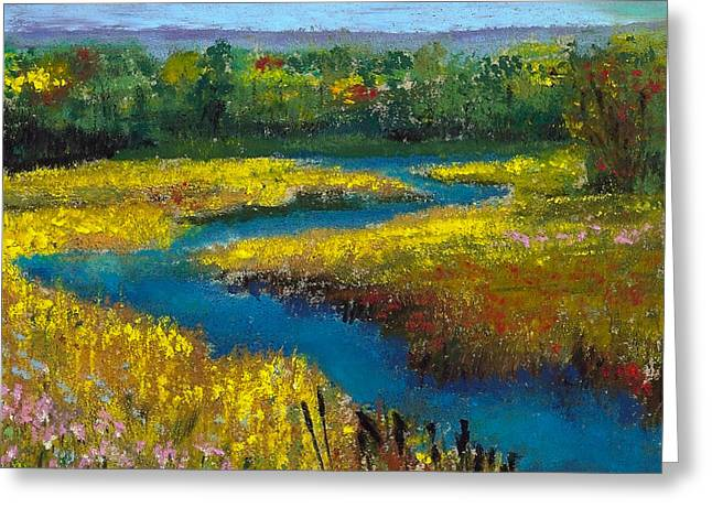 David Patterson Greeting Cards - Meandering Stream Greeting Card by David Patterson