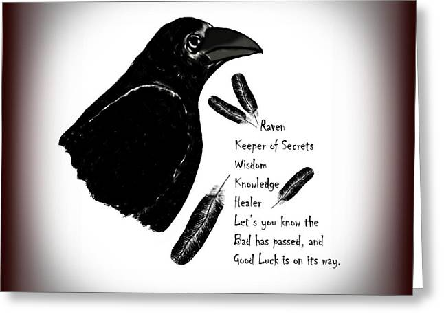 Greeting Cards - Meaning of Raven Greeting Card by Eva Thomas
