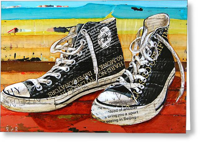 Converse Greeting Cards - Meaningful Convere-ations Greeting Card by Danny Phillips