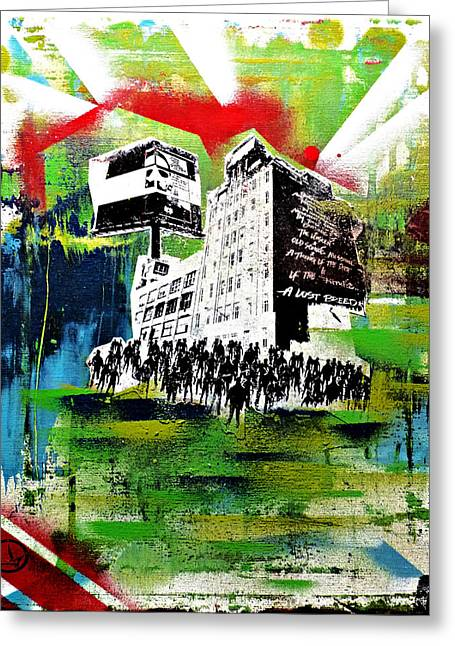 Protest Mixed Media Greeting Cards - Means of Production Greeting Card by Lost Breed Art