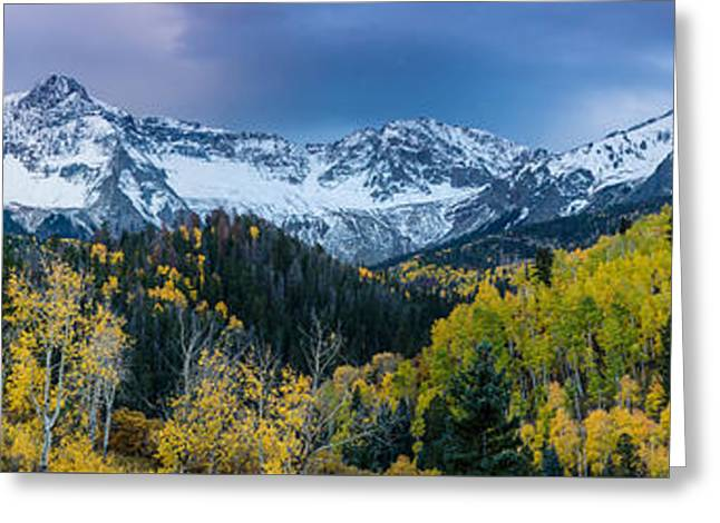 Winter Storm Greeting Cards - Mears Peak and Sneffels Range in Fall - Colorado Greeting Card by Gary Whitton