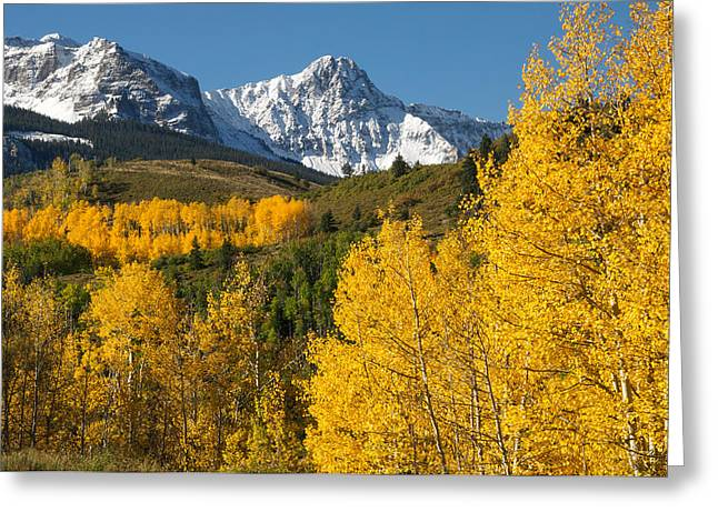 Mears Peak Colorado Greeting Card by Aaron Spong