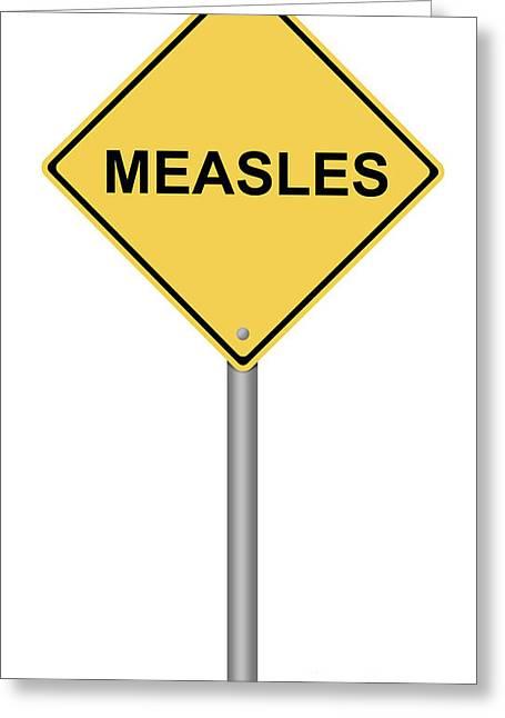 Human Trafficking Digital Art Greeting Cards - Measles Warning Sign Greeting Card by Henrik Lehnerer
