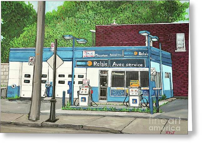 Mecanique Amical Inc. Pointe St. Charles Greeting Card by Reb Frost