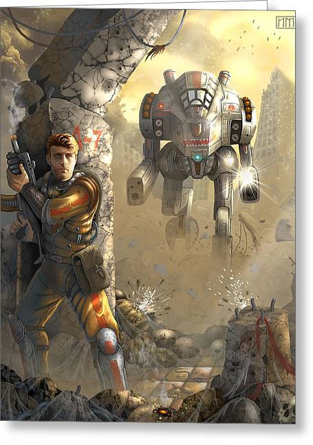 Mech Greeting Cards - Mech Greeting Card by Evgeny Chudin