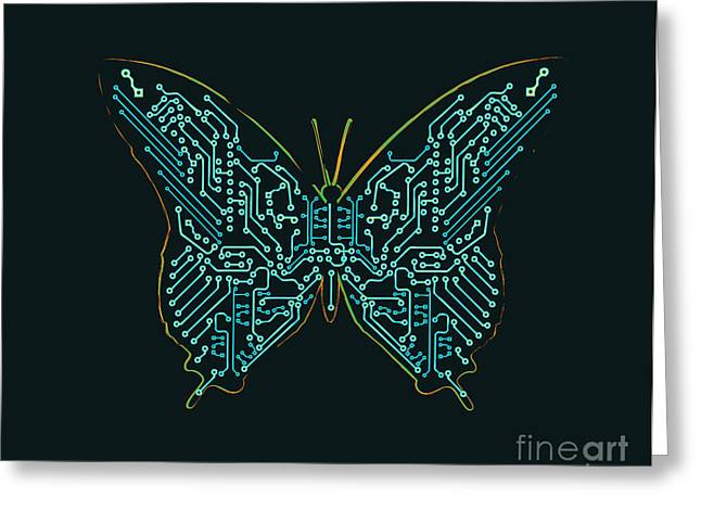 Mechanic butterfly Greeting Card by Budi Kwan