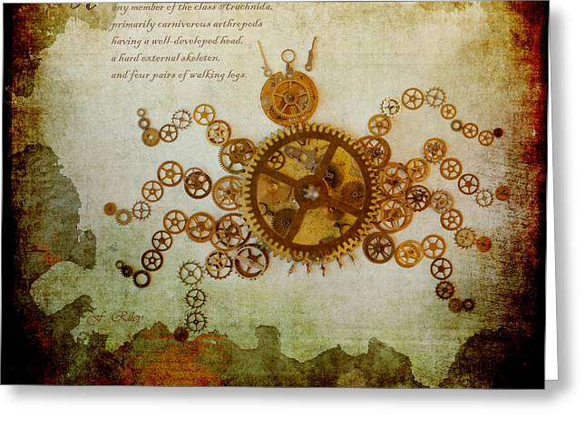 Component Digital Art Greeting Cards - Mechanical - Arachnid Greeting Card by Fran Riley