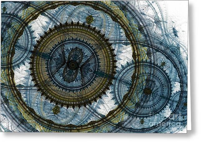 Mechanical circles Greeting Card by Martin Capek