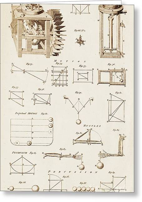 Barker Greeting Cards - Mechanical Devices And Principles Greeting Card by David Parker