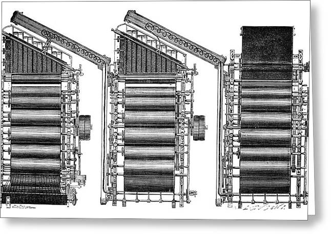 Mechanical Loom Greeting Card by Science Photo Library
