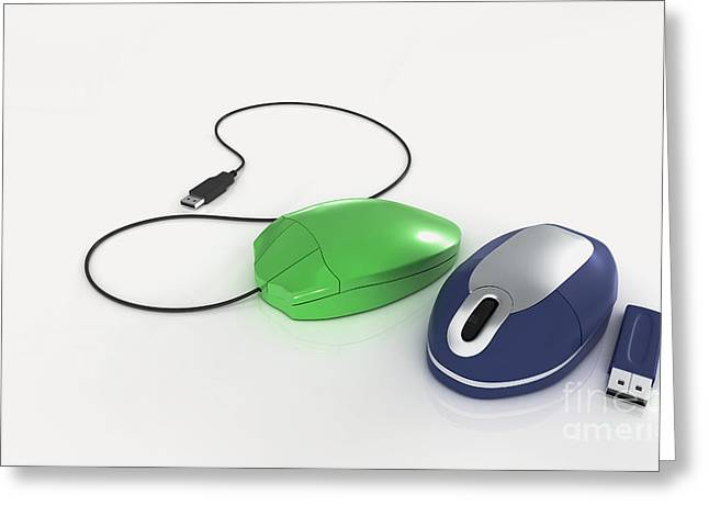 Computer Equipment Greeting Cards - Mechanical Mouse, Optical Mouse & Usb Greeting Card by Nikid Design Ltd / Dorling Kindersley