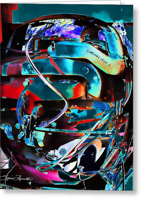 Textile Photographs Digital Greeting Cards - Mechanical Sphere Greeting Card by Sylvia Thornton