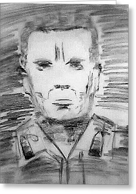 Military Hero Drawings Greeting Cards - Medal of Honour Greeting Card by Pradeep Yadav
