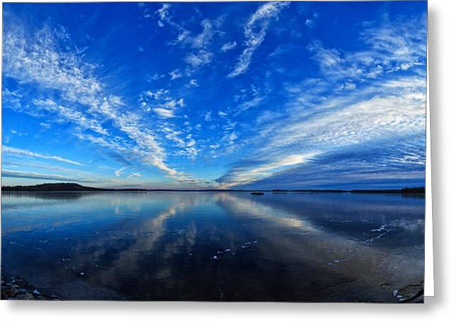 Maine Landscape Greeting Cards - Meddybemps Blues 2 Panorama Greeting Card by Bill Caldwell -        ABeautifulSky Photography