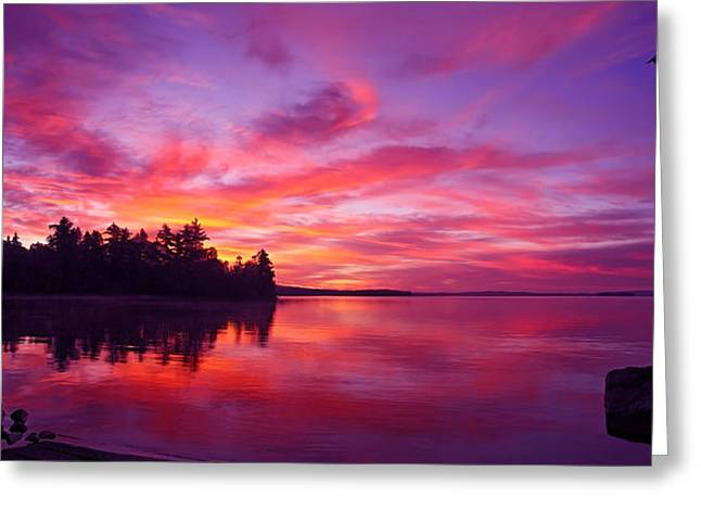 Maine Landscape Greeting Cards - Meddybemps Sunrise Panorama Greeting Card by Bill Caldwell -        ABeautifulSky Photography