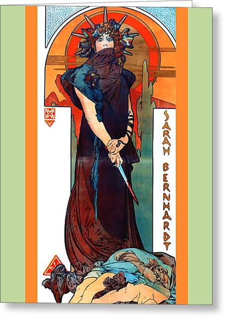 Alphonse Maria Mucha Greeting Cards - Medee Greeting Card by Alphonse Maria Mucha