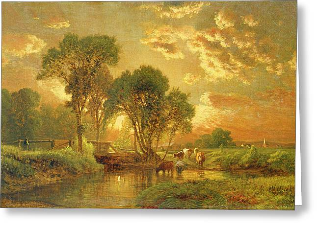 Medfield Massachusetts Greeting Card by Inness