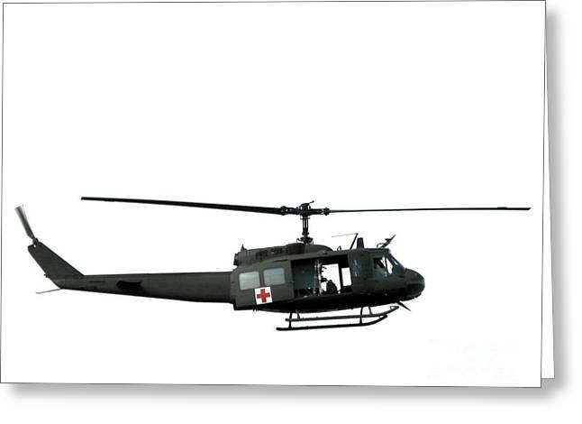Medic Greeting Cards - Medic Helicopter Greeting Card by Olivier Le Queinec