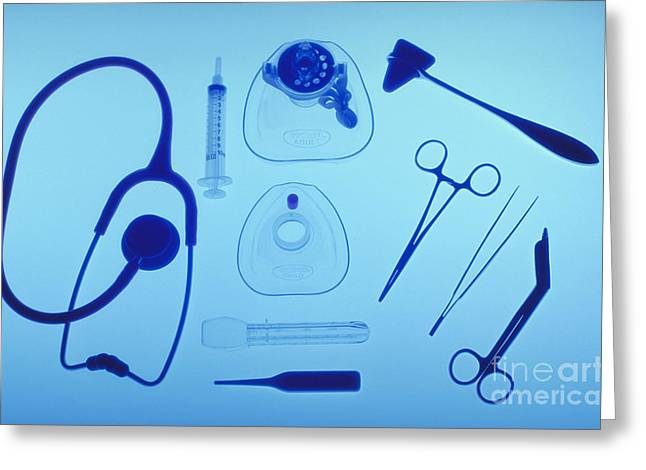 Indoor Still Life Greeting Cards - Medical Equipment Greeting Card by Blair Seitz