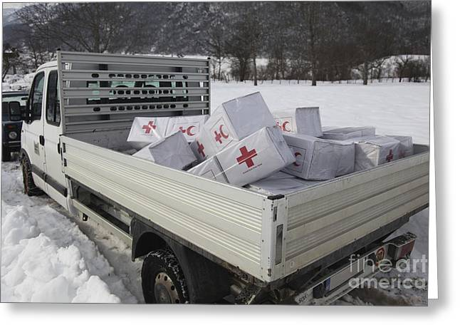 Humanitarian Greeting Cards - Medical Supplies From The Montenegrin Greeting Card by Stocktrek Images