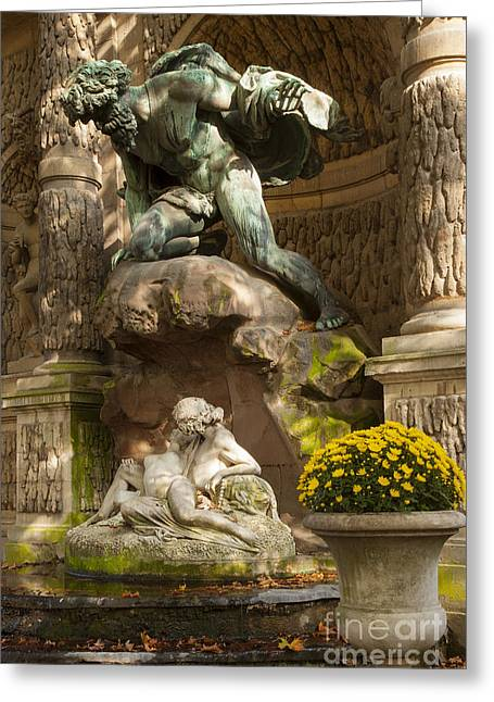 Galatea Greeting Cards - Medici Fountain - Paris Greeting Card by Brian Jannsen