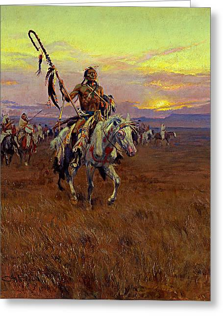 Medicine Man Greeting Cards - Medicine Man Greeting Card by Charles Marion Russell