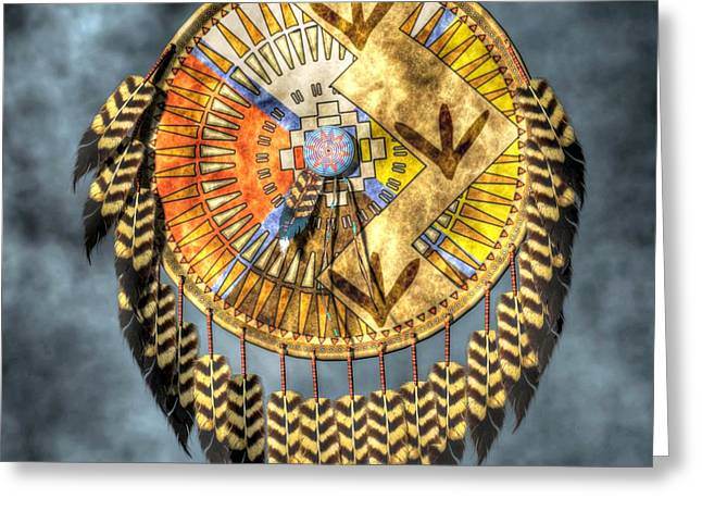 Spirit Guides Greeting Cards - Medicine Shield Greeting Card by Daniel Eskridge