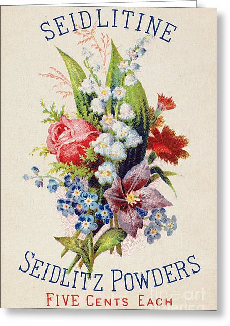 Trade Card Greeting Cards - MEDICINE TRADE CARD, c1880 Greeting Card by Granger