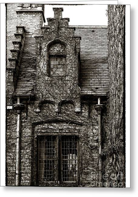 Medieval Buildings Greeting Cards - Medieval Architecture  Greeting Card by John Rizzuto