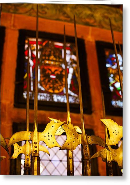 Chateau Greeting Cards - Medieval Armory, Chateau Du Greeting Card by Panoramic Images