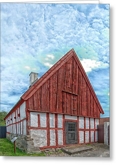 Residential Structure Greeting Cards - Medieval building Greeting Card by Antony McAulay
