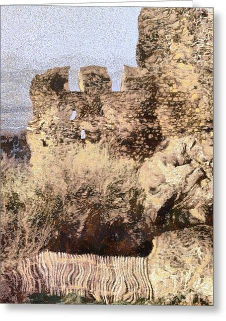 Medieval Temple Greeting Cards - Medieval castle of Holloko Hungary Greeting Card by Odon Czintos