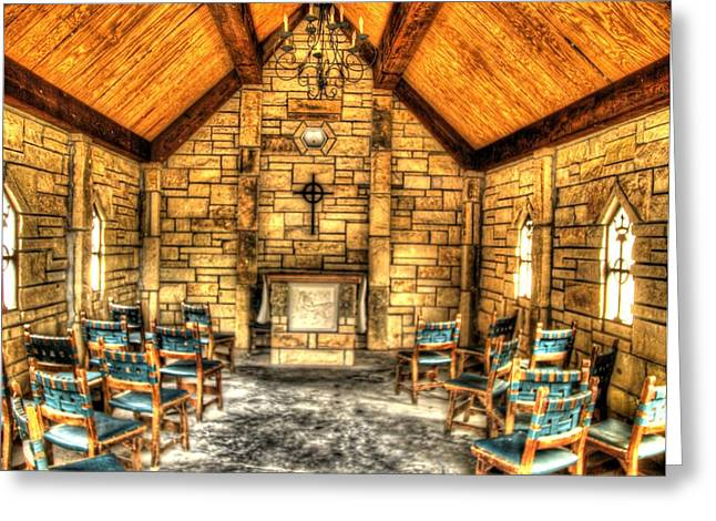 Medieval Temple Greeting Cards - Medieval  Chapel in the Woods Greeting Card by John Straton