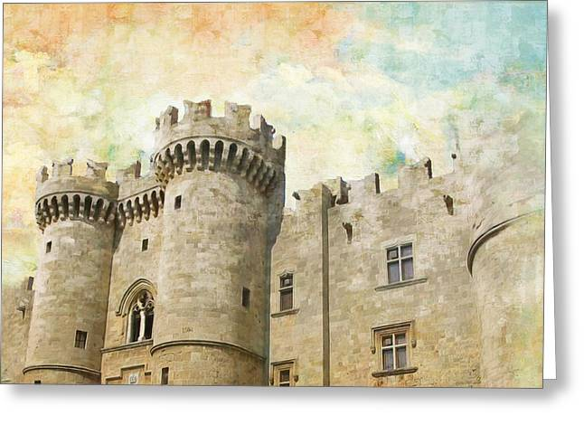 Byzantine Greeting Cards - Medieval City of Rhodes Greeting Card by Catf