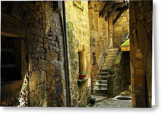 Medieval courtyard Greeting Card by Elena Elisseeva