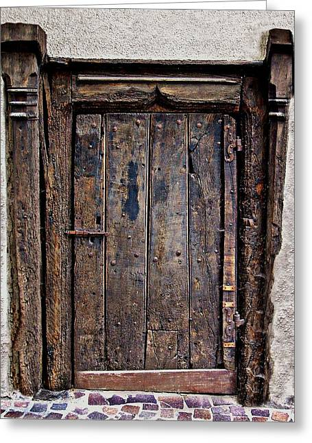 Medieval Entrance Digital Greeting Cards - Medieval door Greeting Card by Russ Murry